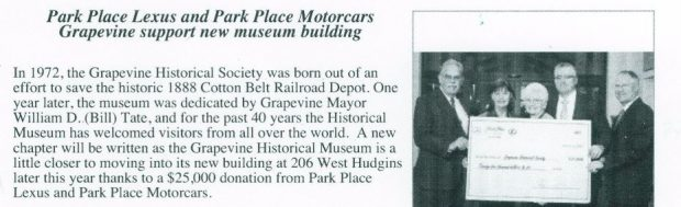 Grapevine Historical Society